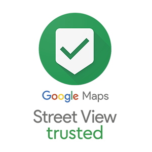Google Maps street view trusted logo